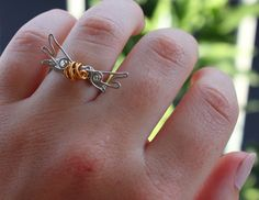 Golden Snitch Wire Ring - Harry Potter