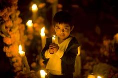 Nino - celebrating Day of the Dead on Janitzio Island, Mexico.