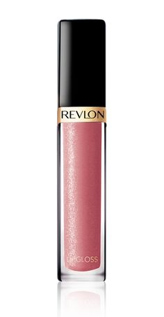 "Super Lustrous Lip Gloss in ""pink afterglow"" - it stays on a long time and isn't glittery like you're trying to be 16. Just don't show it to your kids. They will steal it from you in a second and ruin it with crumbs and other gross stuff."