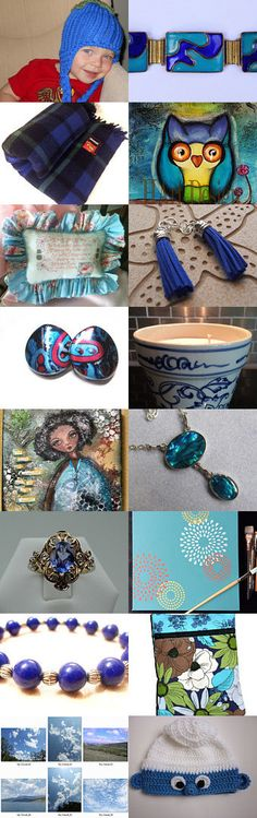 SDP team: Tangled up in Blue by Linda on Etsy--Pinned with TreasuryPin.com