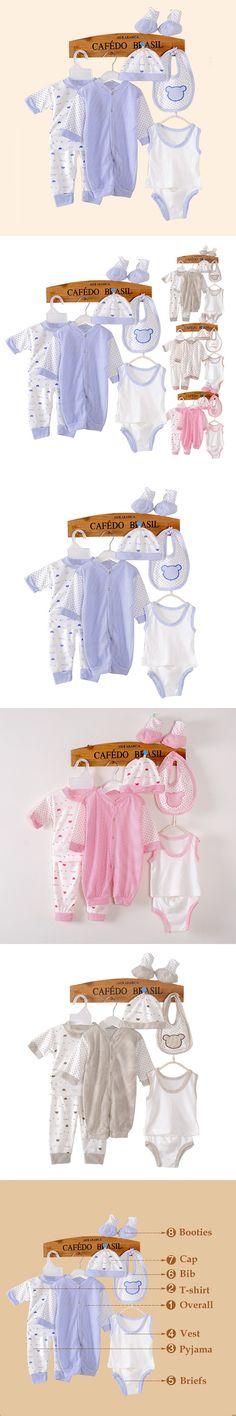 8PCS cotton Baby Girl Boy Clothes Bebe Clothing Baby Gift Set Newborns Layette Jumpsuit 0-3months suit baby infant newborn set