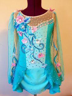 Vestido de patinaje del hielo-vendido
