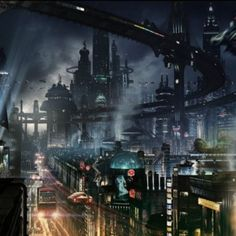 This should remind you of Bladerunner or The Fifth Element.