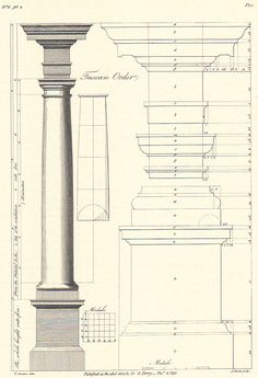 Architecture Drawings, Classical Architecture, Facade Architecture, Historical Architecture, Tuscan Column, Ancient Egyptian Architecture, Temple Design For Home, Pillar Design, Diy Wooden Projects
