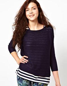 Vero Moda Ribbed Oversize Knit Boat Neck Sweater$43.85
