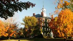"""""""West College""""- the first building on Williams College's campus - in the rural setting of Williamstown, Massachusetts"""