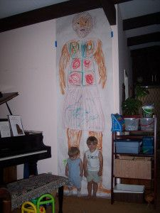 Goliath... measure out and draw on mural paper to let the kids color then hang it up...family worship