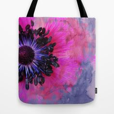 Flower #1 by Psychae Tote bags available on http://society6.com/psychae