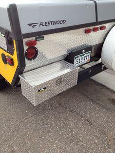 Tool Box mounted to Rear Bumper