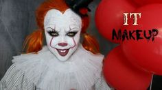 Girl IT 'PENNYWISE' Halloween Makeup Tutorial !!! - YouTube