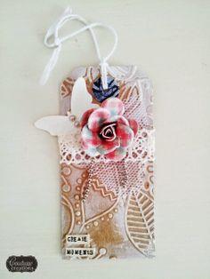 Couture Creations: Fubu Tags by Amanda Baldwin | #couturecreationsaus #decorativedies #embossingfolders