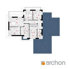 Projekt domu Willa Weronika 4 - ARCHON+ House Plans, Floor Plans, Houses, How To Plan, Home Plans, Homes, House Plans Design, House Floor Plans, House Design