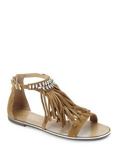 0a4965f970fcf5 REPORT SIGNATURE Tan Calin Fringe Sandals
