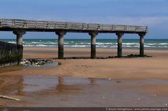 omaha beach | Omaha beach - ponton -04 - [Normandie - Les plages du débarquement]
