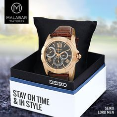 Discover men's watches from #Seiko today. Find the perfect #watch for your style. #MalabarWatches