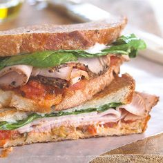 Peppered Turkey Panini From Better Homes and Gardens, ideas and improvement projects for your home and garden plus recipes and entertaining ideas.