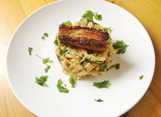 Cider-braised Pork Belly with Mustardy Cabbage and Haricot Bean Hash
