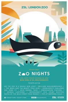 Zoo Nights are being promoted with a campaign, the identity for which was designed by independent brand strategist Claire Rigby and brand studio Edit_