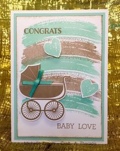 Michelle Zanotti ~ Stampin' Up! Demonstrator UK - Baby Boy | Something for Baby | Baby' First Framelits | Work of Art | Party Pants | Crazy about You | Congratulations | Congrats | Hello | Baby