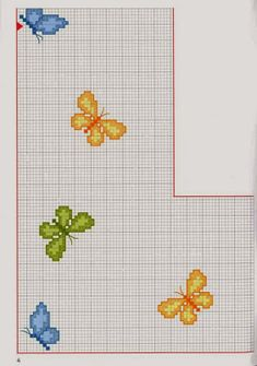 Χειροτεχνήματα: Σχέδια με πεταλούδες για κέντημα / Butterfly cross stitch patterns Cross Stitching, Cross Stitch Embroidery, Embroidery Patterns, Butterfly Cross Stitch, Cross Stitch Heart, Cross Stitch Bookmarks, Cross Stitch Alphabet, Cross Stitch Designs, Cross Stitch Patterns