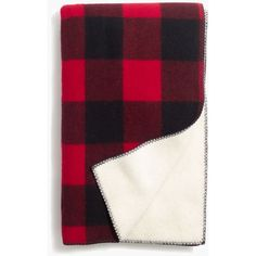 MADEWELL Woolrich® Buffalo Check Blanket ($120) ❤ liked on Polyvore featuring home, bed & bath, bedding, blankets, red black buffalo, madewell, buffalo check bedding, buffalo check blanket, buffalo plaid bedding and american bedding