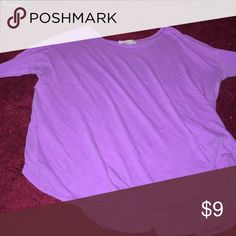 Long sleeve purple shirt Thin purple long sleeve shirt a little see thru but you could wear a white tank underneath Forever 21 Tops Tees - Long Sleeve