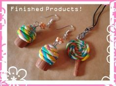 DIY Polymer Clay Jewelry Tutorials - rainbow cupcake earrings by Georgina Doull at DeviantArt