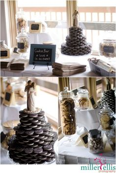 Oreo Cookie Wedding Cake- Cookie Bar- Susan Jason {Horseshoe Valley Wedding}