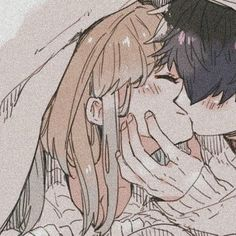 Discovered by tiramisushi 🌿. Find images and videos about art, anime and icons on We Heart It - the app to get lost in what you love. Anime Couples Drawings, Anime Couples Manga, Art Manga, Anime Art Girl, Anime Girls, Cute Anime Coupes, Matching Profile Pictures, Anime Love Couple, Couple Cartoon