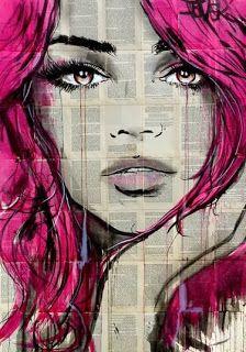 Buy Loui Jover (Faythe) Canvas Prints on The Art Group. Abstract Portrait, Portrait Art, Yuumei Art, Newspaper Canvas, Journal D'art, Art Journals, Face Art, Collage Art, Amazing Art
