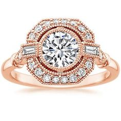 14K Rose Gold Ostara Diamond Ring (1/4 ct. tw.), top view