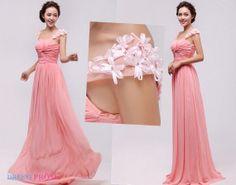 Fashion Straps Princess Evening Dress- Gorgeous Princess Ruched Long Chiffon Evening/Prom/Party Dresses 8052
