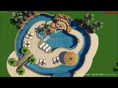 Platinum Pools - The McKenna Family - By Clay Givens and Mark Wyner 3d Pool, Swimming Pools Backyard, Swimming Pool Designs, Backyard Lazy River, Lazy River Pool, Platinum Pools, Backyard Pool Designs, Luxury Pools, Dream Pools