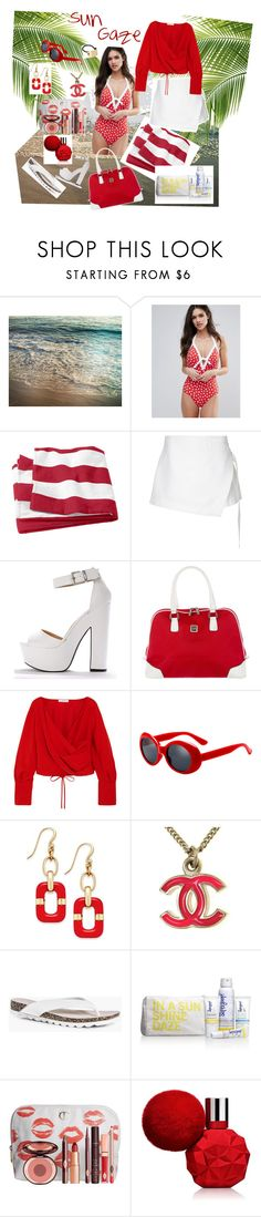 """Untitled #84"" by mb-magic-styles ❤ liked on Polyvore featuring Seafolly, Dion Lee, Diane Von Furstenberg, Adeam, Charter Club, Chanel, Boohoo, Supergoop!, Charlotte Tilbury and Marc Jacobs"