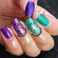 """""""My Manicure: Picture Polish Preen  Let it be said that purple and green, As colours together should always be seen, To that effect, my mani is called…"""""""