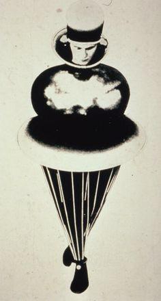 Oskar Schlemmer. The Golden Sphere Costume, Triadic Ballet, 1922.