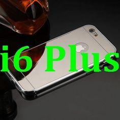 Mirror Case For iPhone 6 6s Aluminum Frame + Hard PC Plating Back Cover For iPhone 6s Plus Metal Phone Cover For iPhone 6 Plus