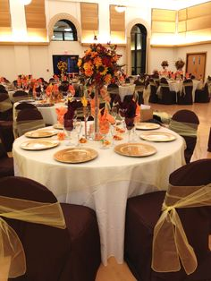 Burnt+Orange+Wedding+Decorations | burnt orange sash and gold ...