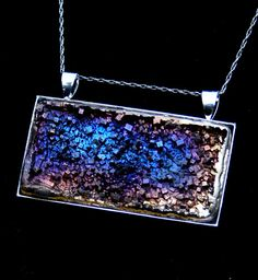 Bismuth Crystal Pendant Beautiful Iridescent by bismuthcrystalarts, $19.99