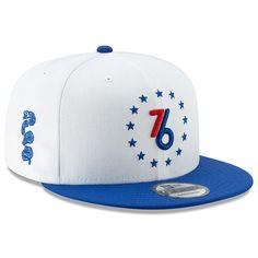 e11359c172e19 Men s Philadelphia 76ers New Era White Earned Edition 9FIFTY Snapback Hat