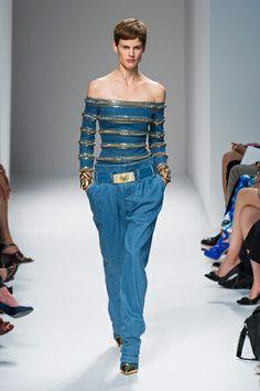 Balmain, Spring 2014, Paris Fashion Week // Holy crap, that top.