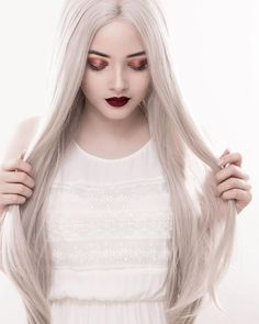 Look at this beautyour sweet honey @patriciaecheverriais perfectly rocking the Light Grey Straight wig.Do you love this onegirls?wig sku:edw1077 Use Coupon Code:INS to get 10% Off on your order. www.everydaywigs.com #everydaywigs#longwig#hairstyle#straightwig#greywig#shorthair#hairstyles#lacefrontwig#makeup#syntheticwigs#synthetic#beauty#instyle#2017hair