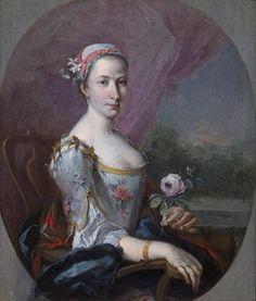 Ritratto di giovane nobildonna. Maestro lombardo dei XVIII secolo