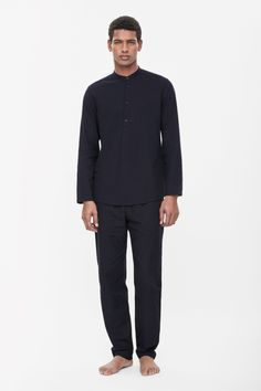COS | Cotton tunic shirt Appears to be comfortable