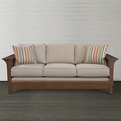 Bassett 2607-62 Sutton Sofa Discount Furniture at Hickory ...