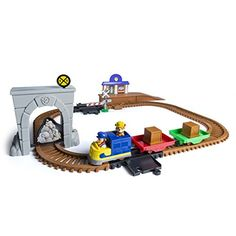The Paw Patrol is on a roll with the Adventure Bay Railway Track Set! Kids will love the motorized action of the train racer and rescue missions with Rubble! The set features a Rubble mini figure and ...