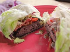 Low Carb Lettuce Burgers recipe from Ree Drummond via Food Network