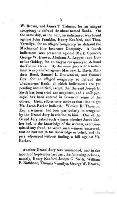 Bowery Theatre Trustees indicted for alleged conspiracy to defraud the Tradesmens' Bank! August 1827. May be why theatre was for sale in 1827.  Trial of Jacob Barker, Thomas Vermilya, and Matthew L. Davis, for Alleged Conspiracy