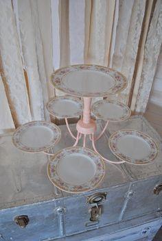 Repurposed Chandelier Turned Dessert Cake Display