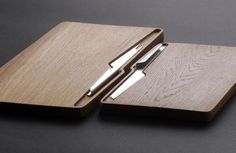 """fold"" is our new set of cheese knives and cheese boards. Stainless steel + Oak or Wenge. www.shibui.ch"
